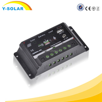 2015 30A Solar Charge Controller 12V 24V LCD Display Dual Solar Panel Battery Charge Regulator Adjustable Controller