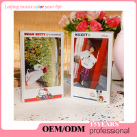 "Laijing Fujifilm Instax Mini Photo Frame 3-inch Acrylic ""L"" Vertical Clear Photo Frame for Fuji Instant Mini Films"