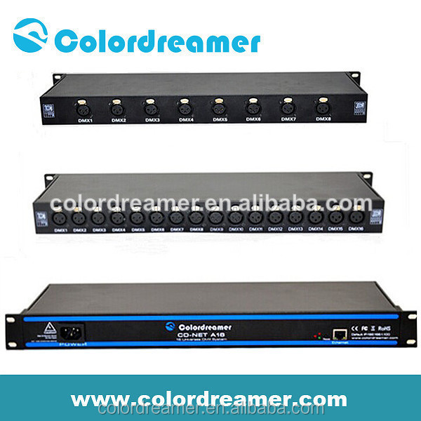 Colordreamer dmx rgb led controller madrix compatible 8*512 and 16*512