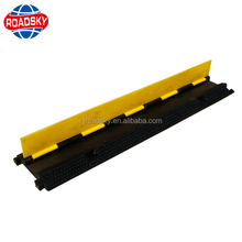 Heavy Duty Rubber 2 Channel Cable Protection Ramp