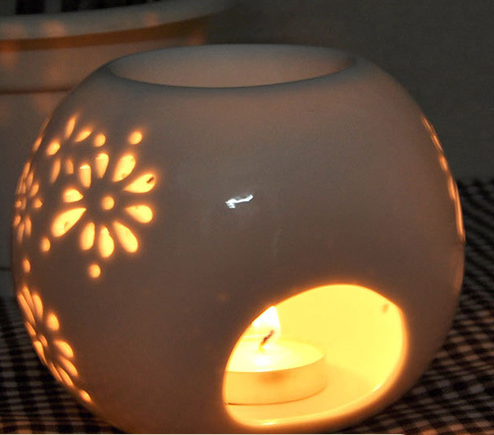 wholesale oil burners ceramic electricity aroma lamps christmas oil burners