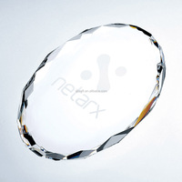 Gem cut Oval Paperweight oval shaped crystal paperweight Laser Engraved K9 Optical Crystal Glass Oval Paperweight for Souvenirs