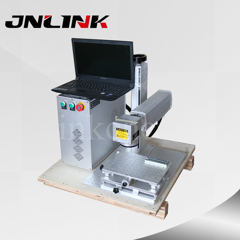 plastic/gold/sliver metal laser engraving machine with 30w fiber source for permanent mark