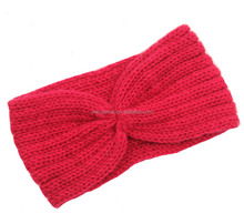 Cheap Women Winter Knitted Cotton Wool Headband Fancy Adults Elastic Wide Turban Knot Headband