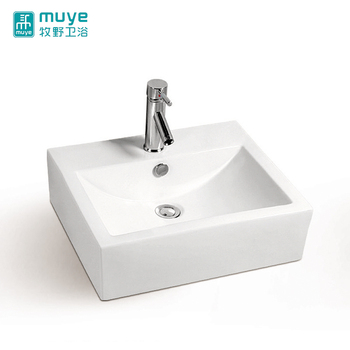 Good sanitary ware china manufacturer countertop single-hole porcelain art counter basin