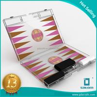 2017 New Style Promotion Gifts Travel Game Acrylic Mini Portable Backgammon set