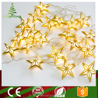 2016 new gold decoration led christmas star