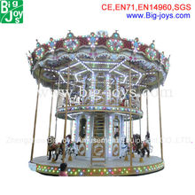Deluxe attractive rides double deck carousel for sale