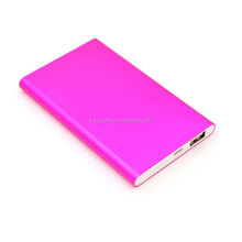 5000mah Super Slim Aluminium Alloy Housing Polymer Power Bank