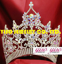 customized rhinestone bride pageant crown shaped wedding band tiaras