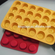 OEM silicone shaped mini muffin pan with top Cupcake Baking mould tray and 24 cup muffin baking Cup