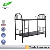 Black double military metal bunk beds