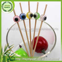 Bottom price different packing bamboo fruit pick with moon bead