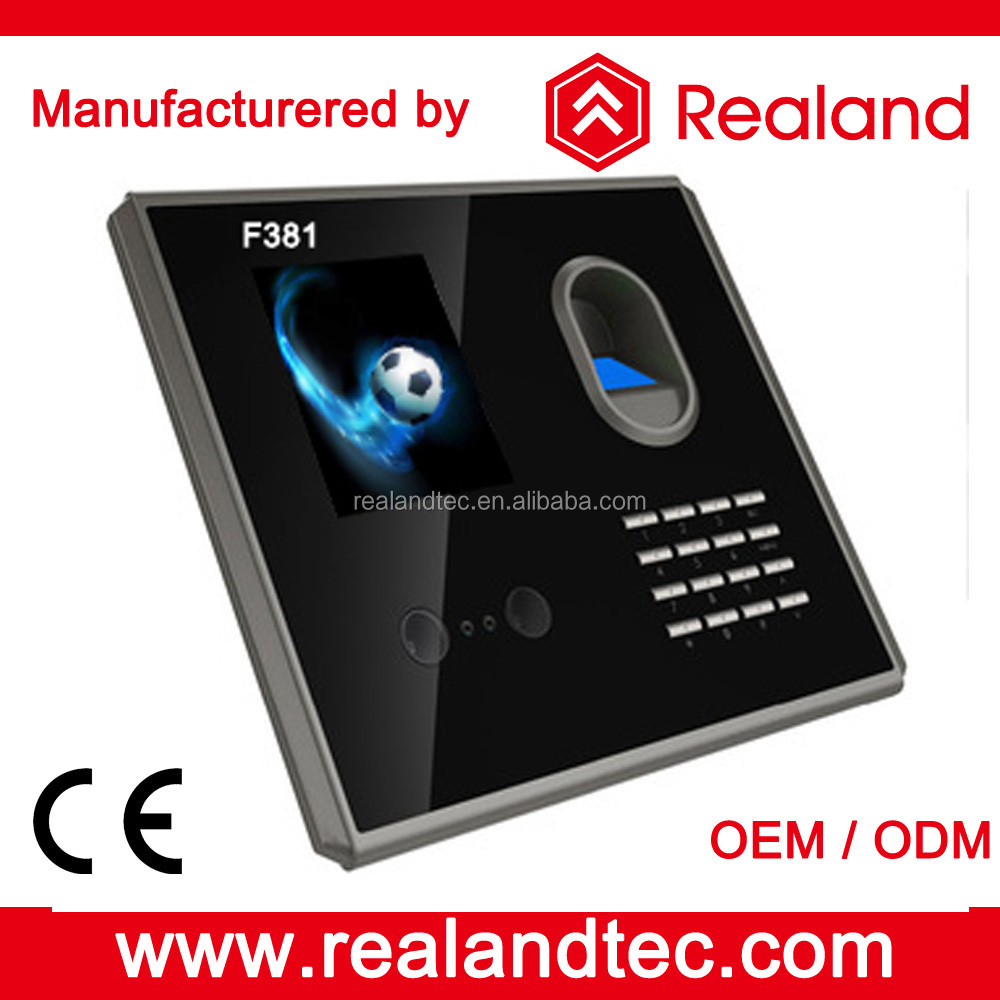 Realand F381 Biometric Device Fingerprint Scanner Face Recognition Time Attendance System