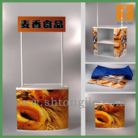 Promotional counter displays for supermarket and shopping mall