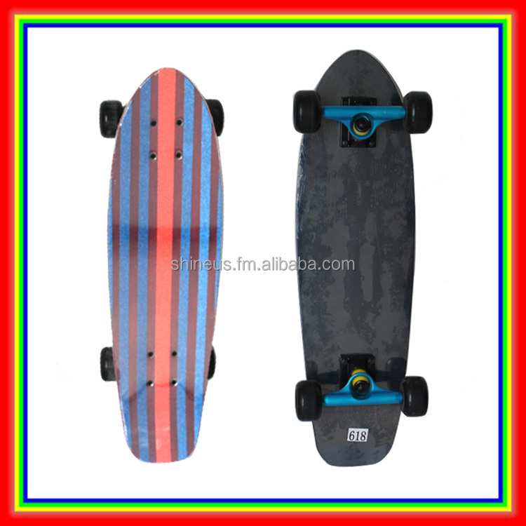 Lukai 5 Ply Glass Fiber and Bamboo Deck Complete Cruiser Skateboard