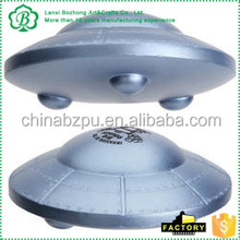 supplier cheap promotional gift imprinted logo custom PU UFO / Flying Saucer Stress Ball