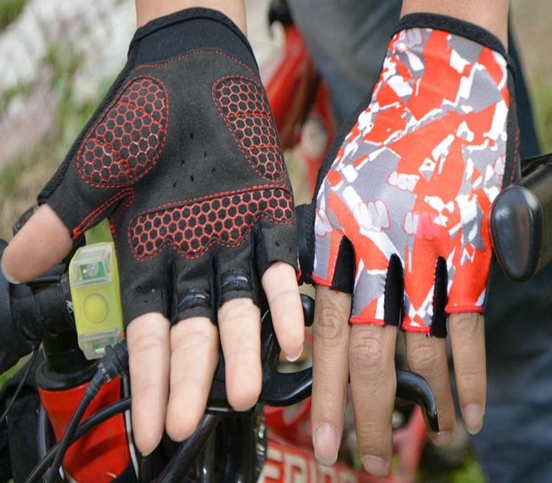 OEM gel palm lycra cycling mountain bike gloves for women