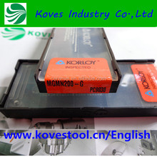 Korloy CNC Tool holder indexable Lathe carbide cutting insert for machine tools Korloy MGMN200-G PC9030