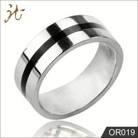 black and sivler Two Tones Smart Finger Ring