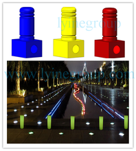 LED collapsible safety post road barrier lights LED guard post