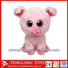 Promotional cute plush pig toys Big eyes pig toys for children