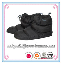 Black New lady fashion down proof boot for indoor slippers