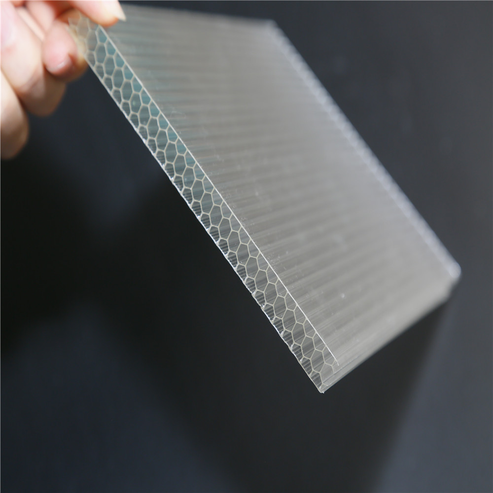 Honeycomb polycarbonate sheet PE protective film building plastic material