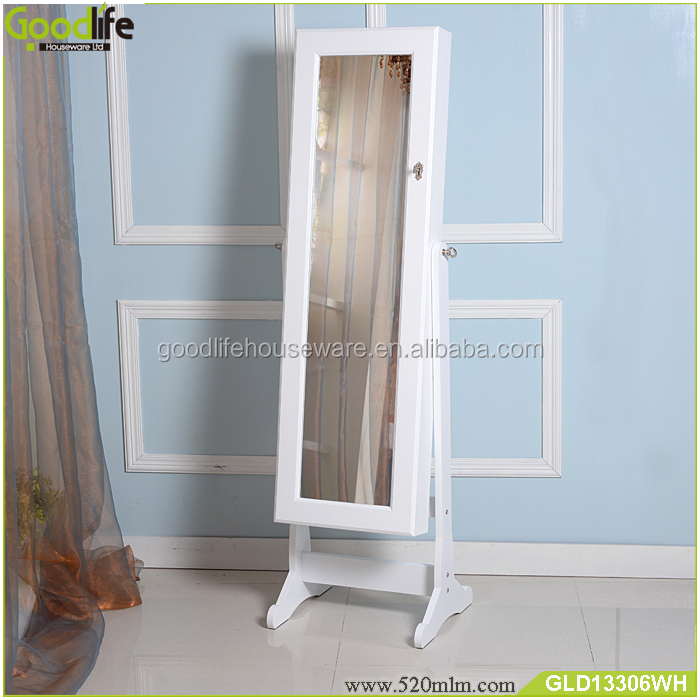 City fashion furniture mirrored jewelry cabinet for ebay supplier