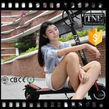 hot TNE 350w electric adjustable foldable 2 wheels foot pedal kick scooter