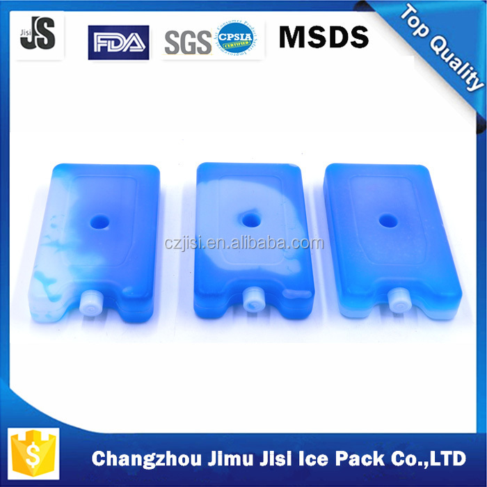 BPA free pcm material pe plastic ice cube freezer cooler bag for lunch box