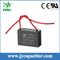 CBB61AC motor run capacitor double wire for fan