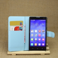 Top level best sell leather cover for huawei honor 3c