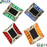 Waterproof five led colors road side blinking solar road reflector