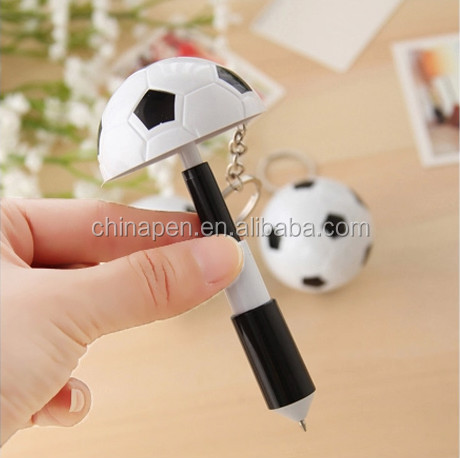novelties 2015 ball pen football shape ballpoint pen plastic ballpen