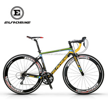 700C Road Bicycle Full Carbon Fiber 50cm Frame Complete Racing Bicycle 16 Speed Shinano Claris 2400 Gears bicycle