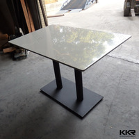 Solid Surface Restaurant Table For KFC / Fast Food Restaurant Furniture