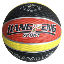 custom basketball 7# Green red black school young kids basketball 7# rubber basketball for children