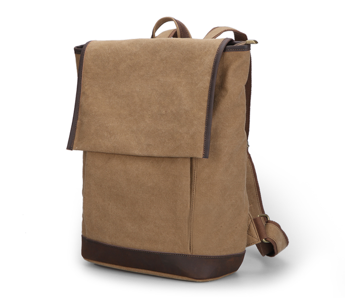 Durable Military Vintage Canvas Shoulders School Bag Day Bag for Boys