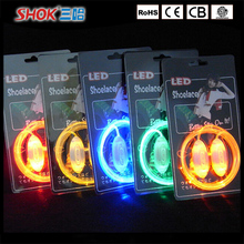 Top selling fashionable colorful flashing light up led shoelace for night running