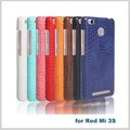 2017 trending OEM 8 colors leatherphone case back cover for redmi 3s