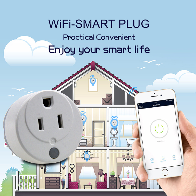 FRANKEVER Factory OEM Wireless Smart Plug US Wifi Plug Works With Home Assistant