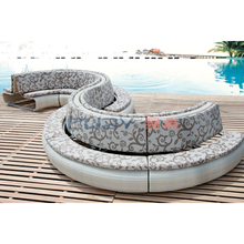Modern Outdoor All Weather Wicker Rattan Patio Set Sectional Curve Sofa Furniture