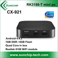Quad Core Android 4.4 set top box CX-921/Rrockchip K3188-T quad-core