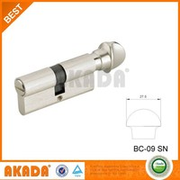 computer key door lock cylinder parts with knob