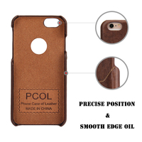Unique design genuine leather case for iphone 6 with one card slot