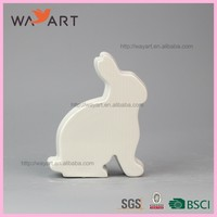 High Quality White Rabbit Ceramic Kids Handwork Crafts
