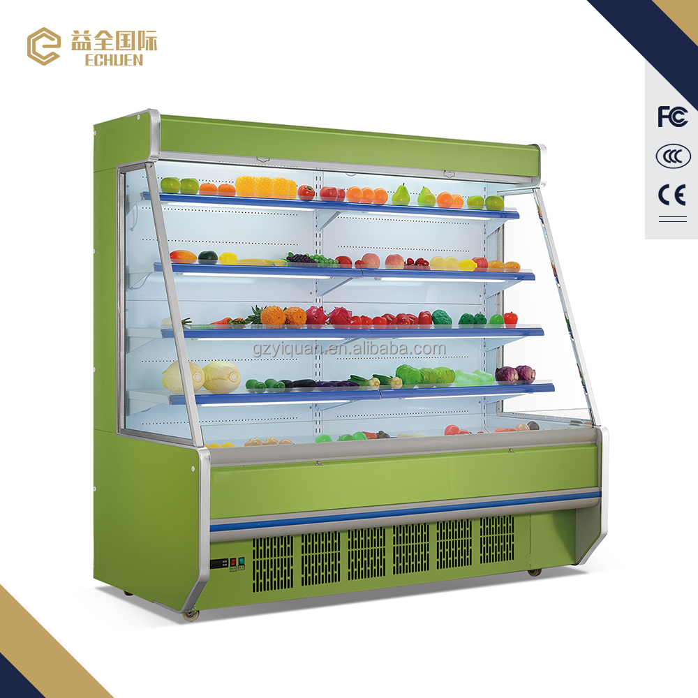 Meat fruit vegetable using display fridge / commercial refrigerators / air cooler display