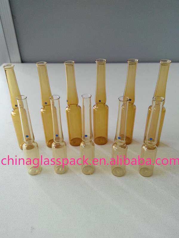1ml 2ml 3ml 5ml 10ml 20ml Amber Pharmacy Glass Ampoule