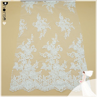 New style hand beaded fancy embroidery bridal laces fabrics for wedding dress
